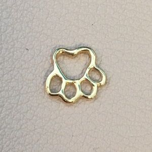 Jewelry - 14k Yellow Gold Paw Print Charm